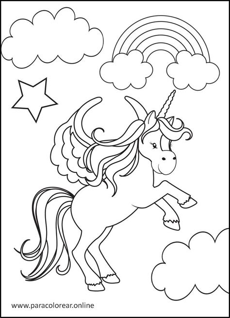 Los mejores Dibujos de Unicornios para Colorear Imprimir y ...