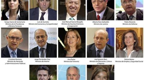 Los ministros de Rajoy
