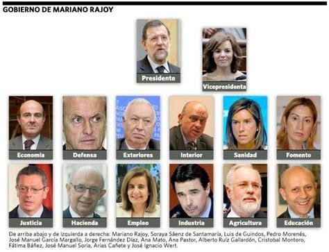 Los ministros del nuevo gobierno de Mariano Rajoy   Paperblog