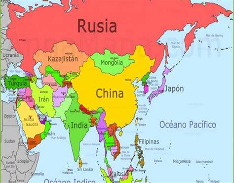 Los países de Asia y curiosidades