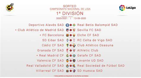 Los partidos más destacados del calendario de LaLiga 2020/2021