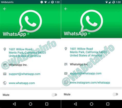 Los perfiles de WhatsApp para empresas serán así