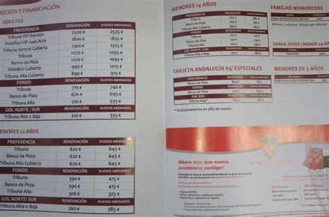 Los precios de los abonos para la 2012 2013   Orgullo de ...