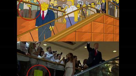 Los Simpson no predijeron la escena de Donald Trump   YouTube