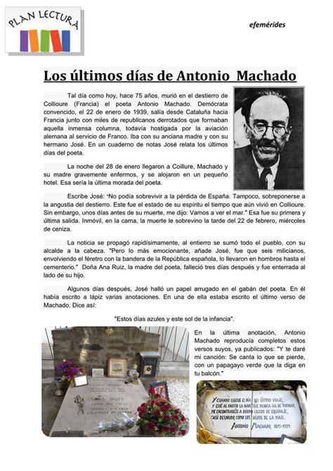Los últimos días de Antonio Machado
