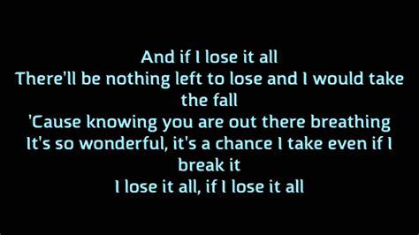Lose it all  Backstreet Boys  Lyrics/Karaoke  Album ...