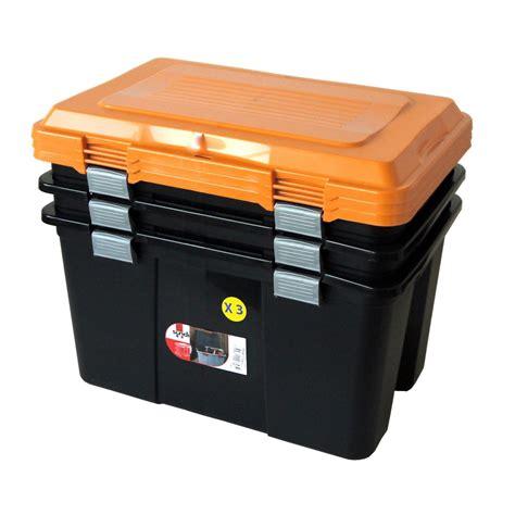 Lot de malles Packer plastique , l.59 x P.39 x H.35.5 cm ...