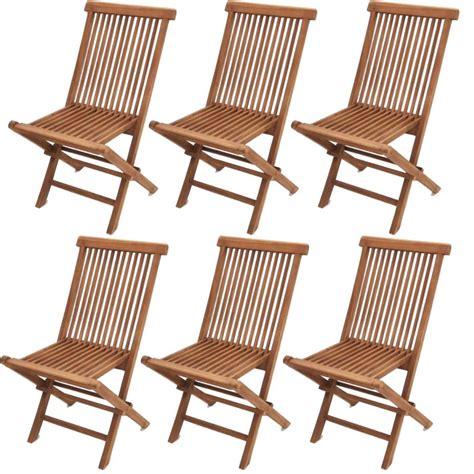 Lote 6 sillas de jardín MODENA plegables color teca ...