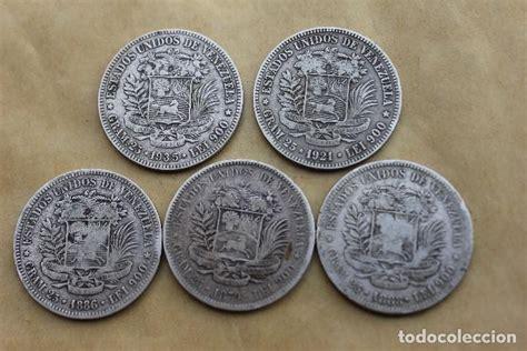 lote de cinco monedas de plata. venezuela. boli   Comprar ...