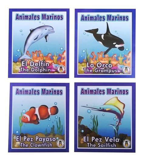 Lotería Didáctica Educativa Animales Marinos Primaria ...