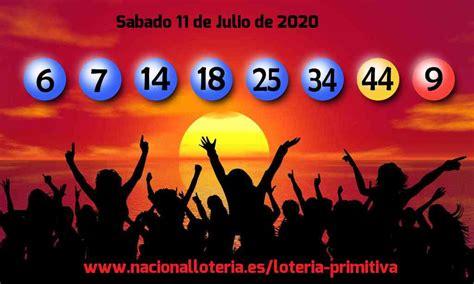 LOTERIA PRIMITIVA del Sábado 11 de Julio de 2020 ...