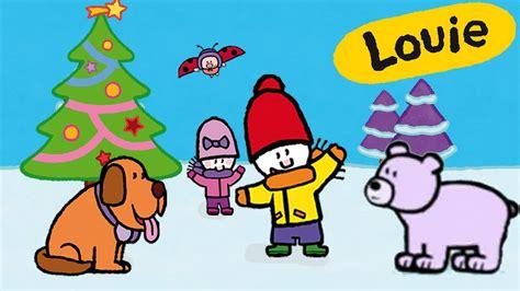 Louie dibujame el Invierno y la Navidad   Compilación ...