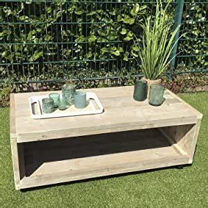 Lounge Mesa con Ruedas Muebles de Jardín Diseño Madera 45 ...