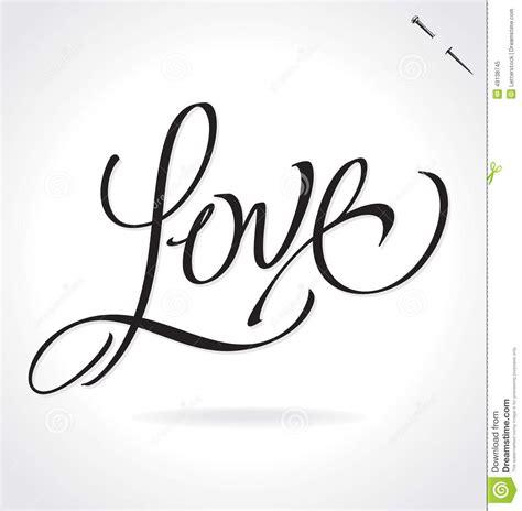 LOVE Hand Lettering  vector  Stock Vector   Illustration ...