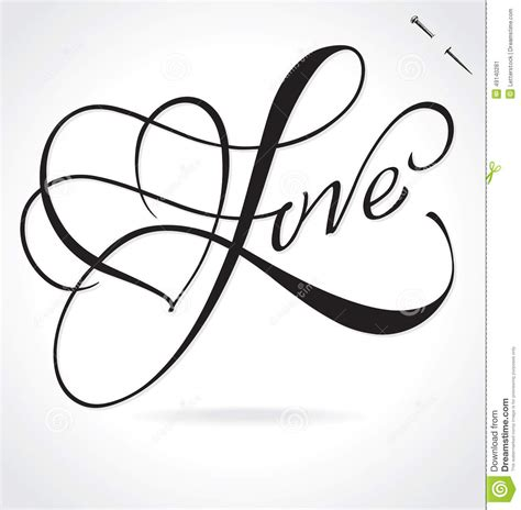 LOVE Hand Lettering  vector  Stock Vector   Image: 49140281