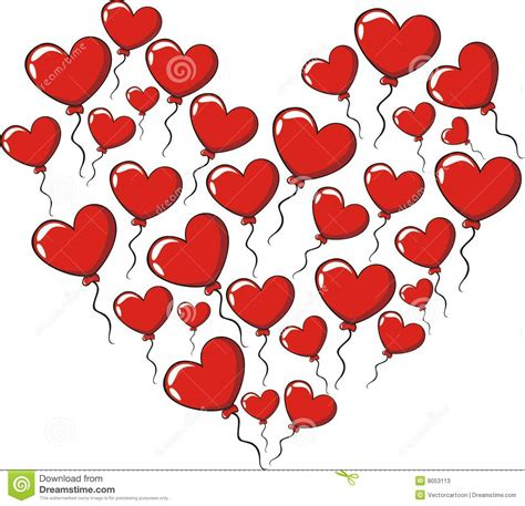 Love Hearts Balloons stock illustration. Illustration of ...
