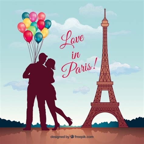 Love in paris Vector | Free Download