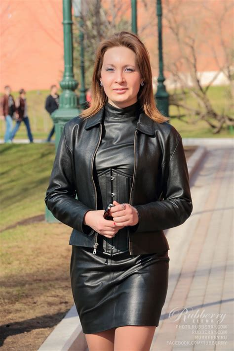lovely woman in leather suit | Leder outfits ...