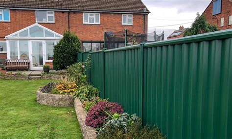 Low Maintenance Metal Garden Fencing | ColourFence