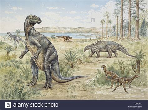 Lower Cretaceous dinosaurs discovered in England Stock ...