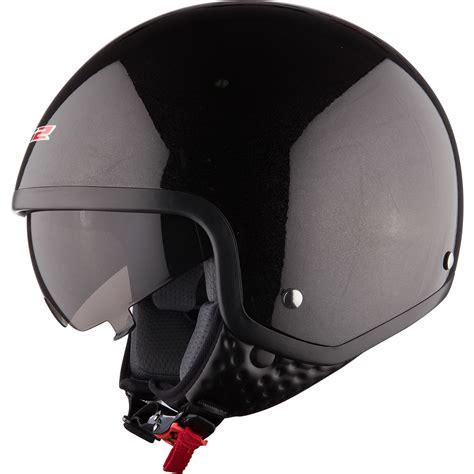 LS2 OF561.1 Wave Black Motorcycle Helmet Scooter Cruiser ...