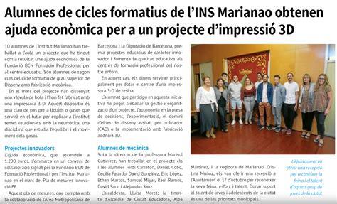 L'Institut Marianao i els alumnes de Disseny de la ...