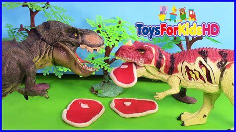 Luchas de dinosaurios T Rex V/S Ceratosaurus   Videos de ...