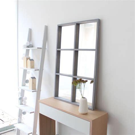 Luci espejo de madera 60x90 Gris   Kenay Home | Espejos ...