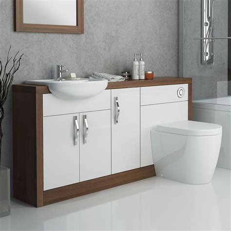 Lucido 1500 Fitted Bathroom Furniture Pack White ...