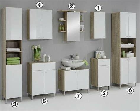Luxury Bilbao Matching White & Washed Oak Bathroom Vanity ...