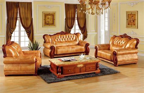 luxury European leather sofa set living room sofa made in ...