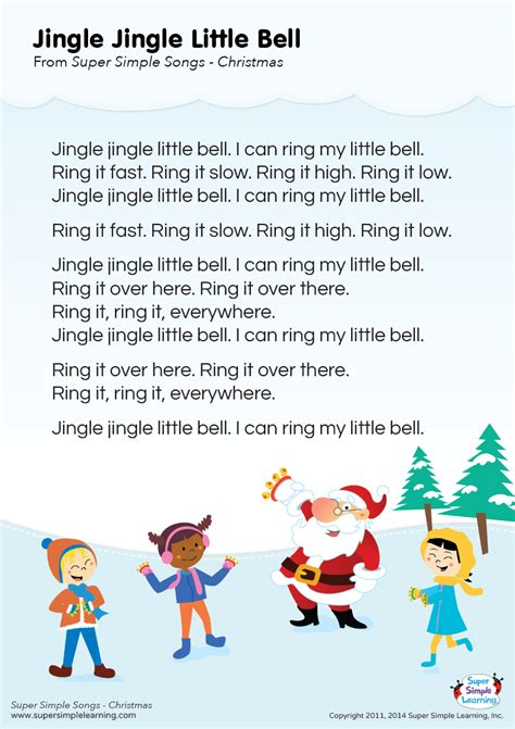 Lyrics poster for  Jingle Jingle Little Bell  Christmas ...