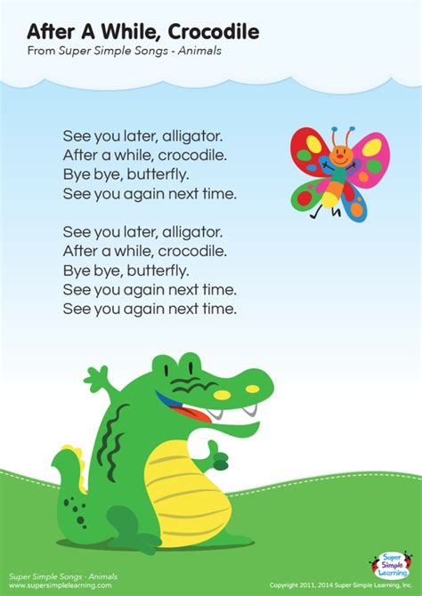 Lyrics Posters | Resource Type | Super Simple | Simple ...