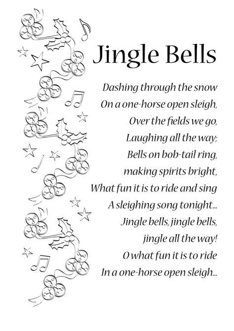 lyrics to jingle bells | ENGLISH SONGS AND RHYMES: LYRICS ...