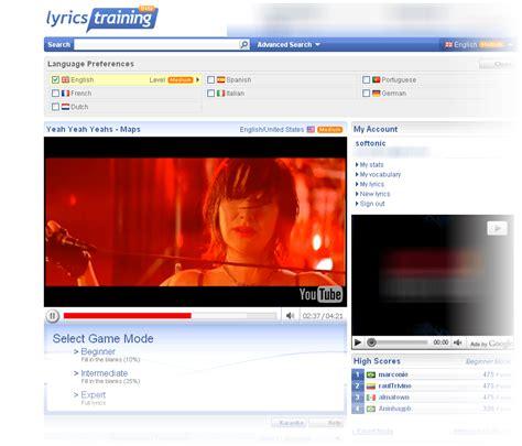 Lyrics Training Online