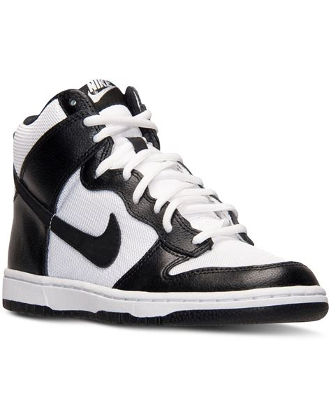 Lyst   Nike Women S Dunk High Skinny Casual Sneakers From ...