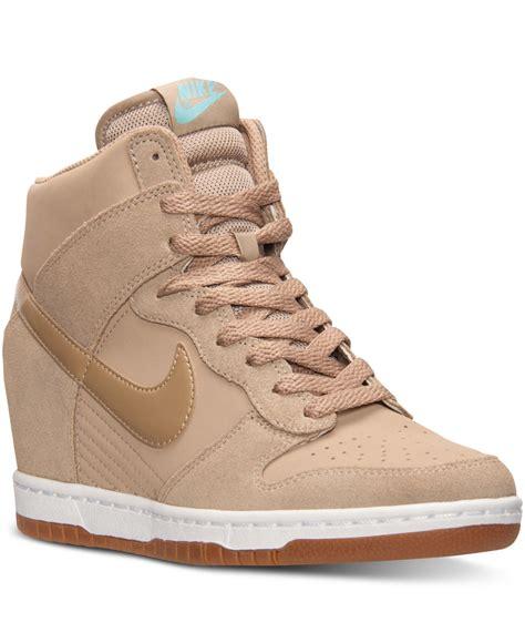 Lyst   Nike Women s Dunk Sky Hi Essential Casual Sneakers ...