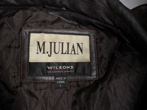 M Julian Wilsons Leather Jacket | Classic Vintage Apparel