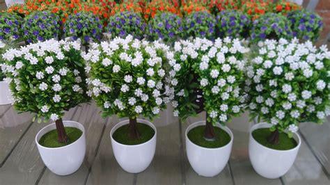 Macetitas Con Flores Artificiales Bonitas X 4 Pza ...