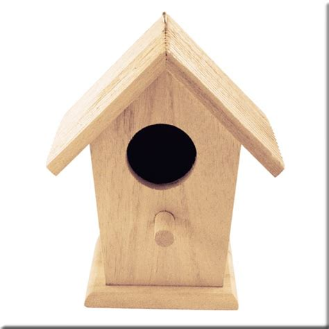 Madera   Casita de Pájaros   tejado 2 aguas festoneado