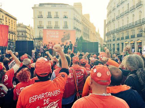 Madrid: la lucha de los trabajadores de Coca Cola en un ...