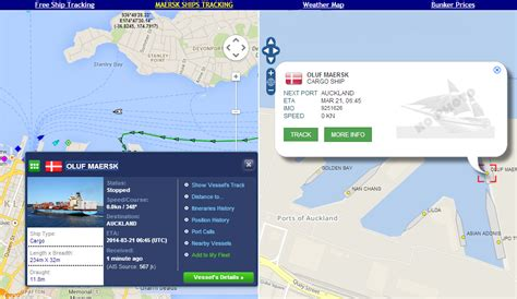 MAERSK LINE CONTAINER SHIPS CURRENT POSITION TRACKING ...