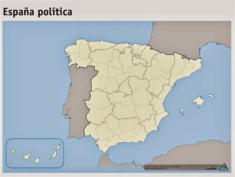 Maestra de Primaria: Mapas mudos de España