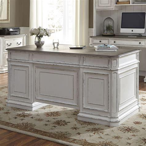 Magnolia Manor Antique White Jr Executive Home Office Set ...