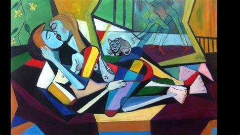 Mahmoud Badarni paintings  part 2  cubism style   YouTube