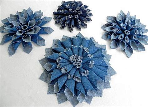 Make a Denim Corsage or Flower From Repurposed Jeans