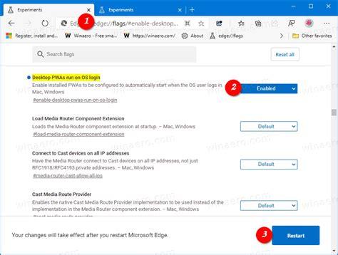 Make PWA Running on Startup in Edge or Chrome in Windows 10