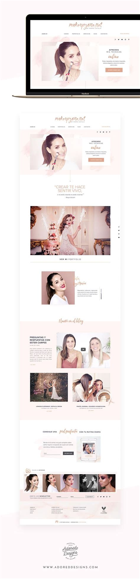 Makeupzone.net   Web Design for a Makeup Artist | Adored ...