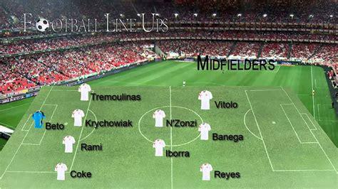 Malaga 0 0 Sevilla  Sevilla Starting Lineup  La Liga BBVA ...