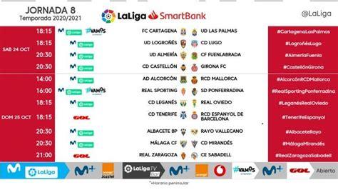 Málaga CF Todos los horarios de la Jornada 8 de la Liga ...